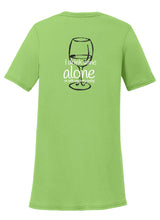 I Drink Wine Alone Womens T-Shirt