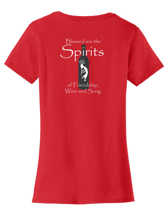 Wine Spirits  Womens T-Shirt
