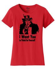 Uncle Sam Wants You  Womens T-Shirt
