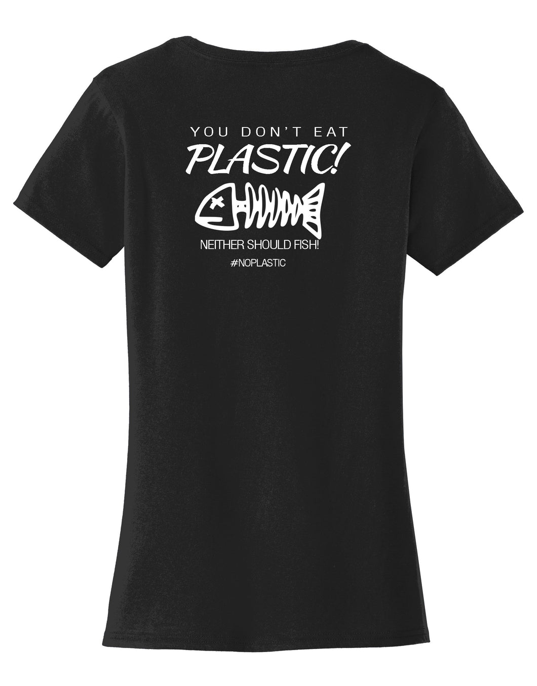 Fish Don't Eat Plastic Womens T-Shirt