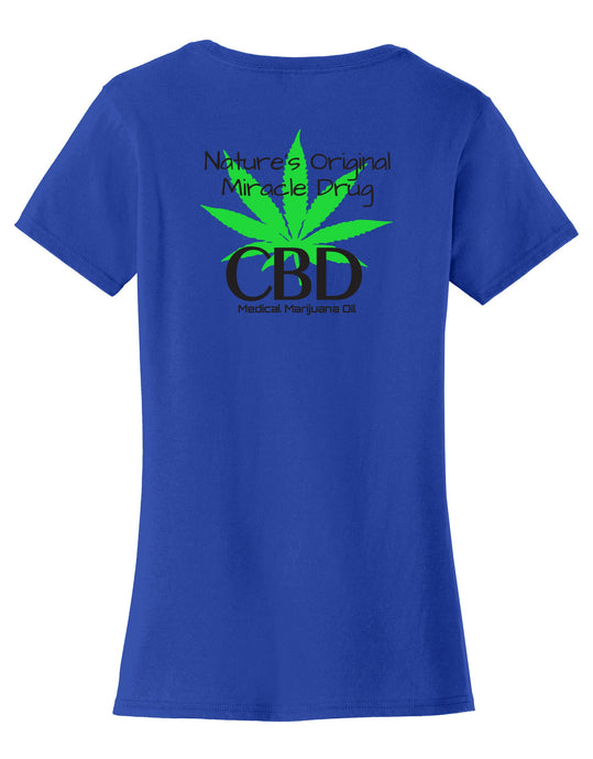 Nature's Original Miracle Drug CBD Oil Womens T-Shirt