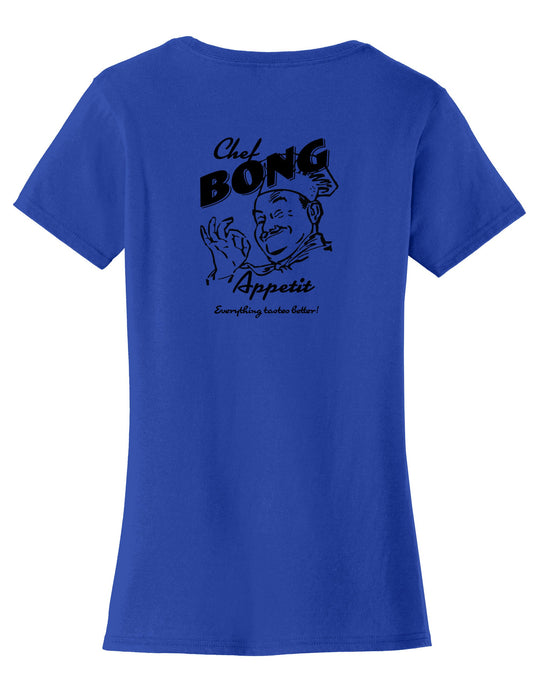 Chef Bong Apetit Womens T-Shirt