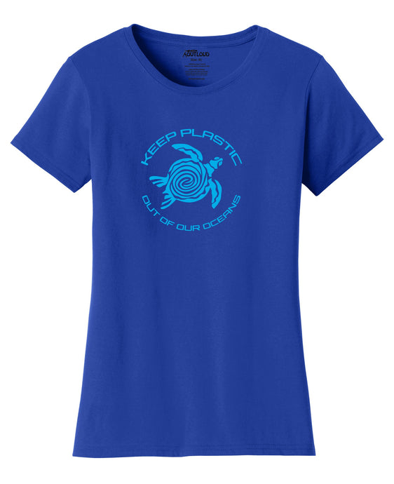 No Plastic In Our Oceans Womens T-Shirt