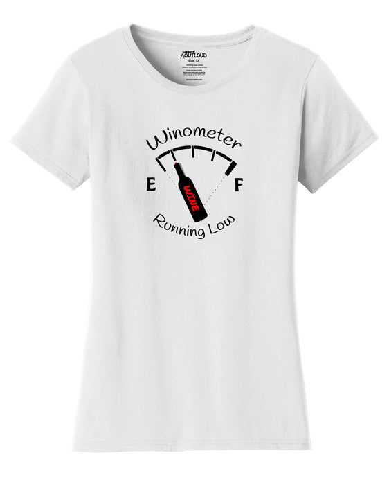 Wino-Meter Womens T-Shirt