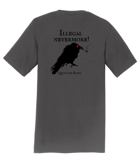 Illegal Nevermore The Raven Mens T-Shirt