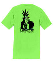 Uncle Sam Want You to Free the Weed! Mens T-Shirt