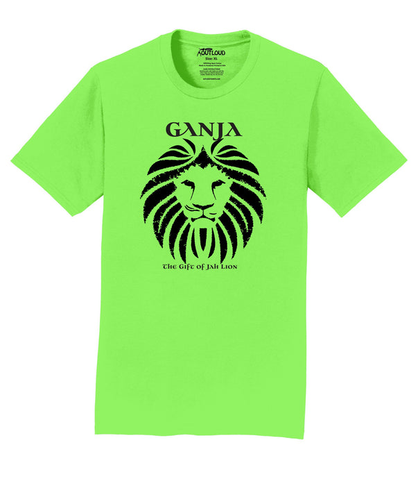 Ganja Lion Mens T-Shirt