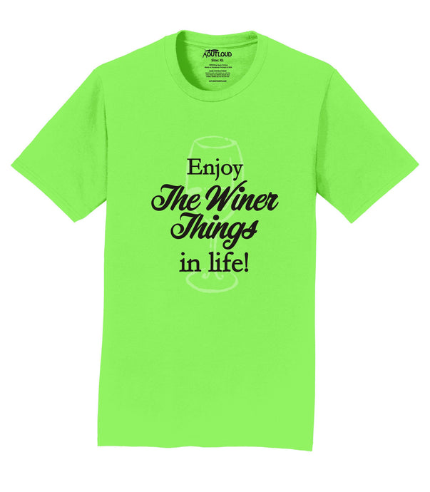 Enjoy the Winer Things in Life Mens T-Shirt