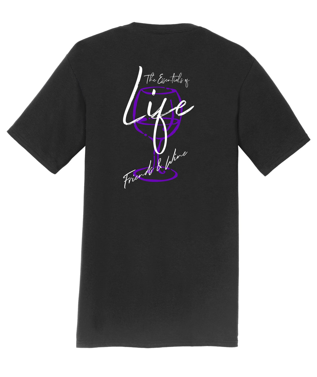 Essentials of Life Friends and Wine Mens T-Shirt