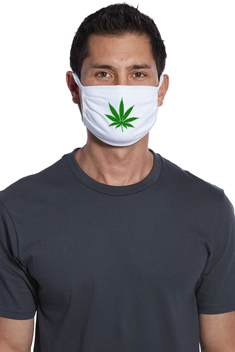 Marijuana Leaf Face Mask