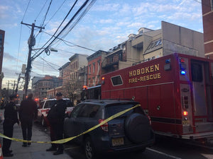 Hoboken apartment fire forces evacuations, closes main road