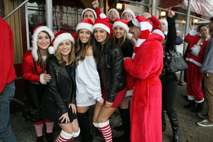 A busy, but calm SantaCon sloshes through Hoboken