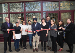 Choc O Pain Tea Building Location Hosts Ribbon Cutting and Reception