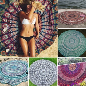 2019 Picnic Cloth Swimming Chiffon Indian Mandala Bath Table Large Towel Polyester Mat Beach Towel