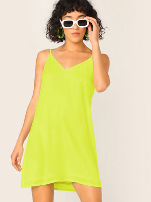 Neon Lime Cami Dress