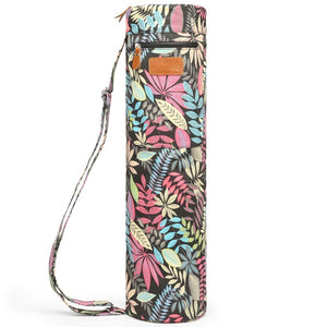 Elenture Full-Zip Exercise Yoga Mat Carry Bag with Multi-Functional Storage Pockets --Colorful leaves