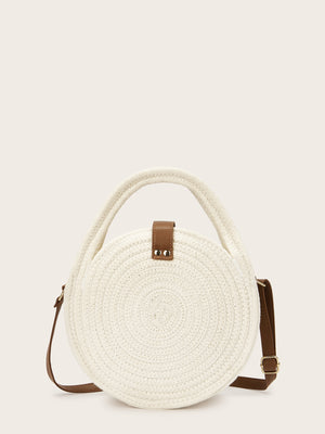 Round Shaped Braided Satchels
