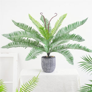 65cm Artificial Plants Plastic Palm Bouquet For Wedding,Fake Fern Plants Home Garden Indoor Greenery Plant Table Decoration