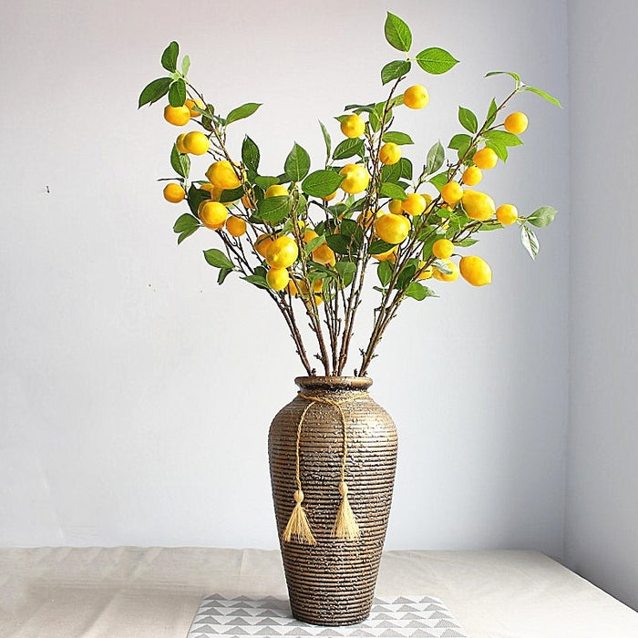 Artificial Plant  Lemon Tree with Fruit Branches Store Living Room Decoration Plant Decoration Garden Decoration No Vase