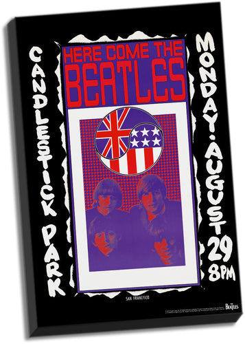 The Beatles Candlestick Park Final Concert Stretched 24x36 Canvas