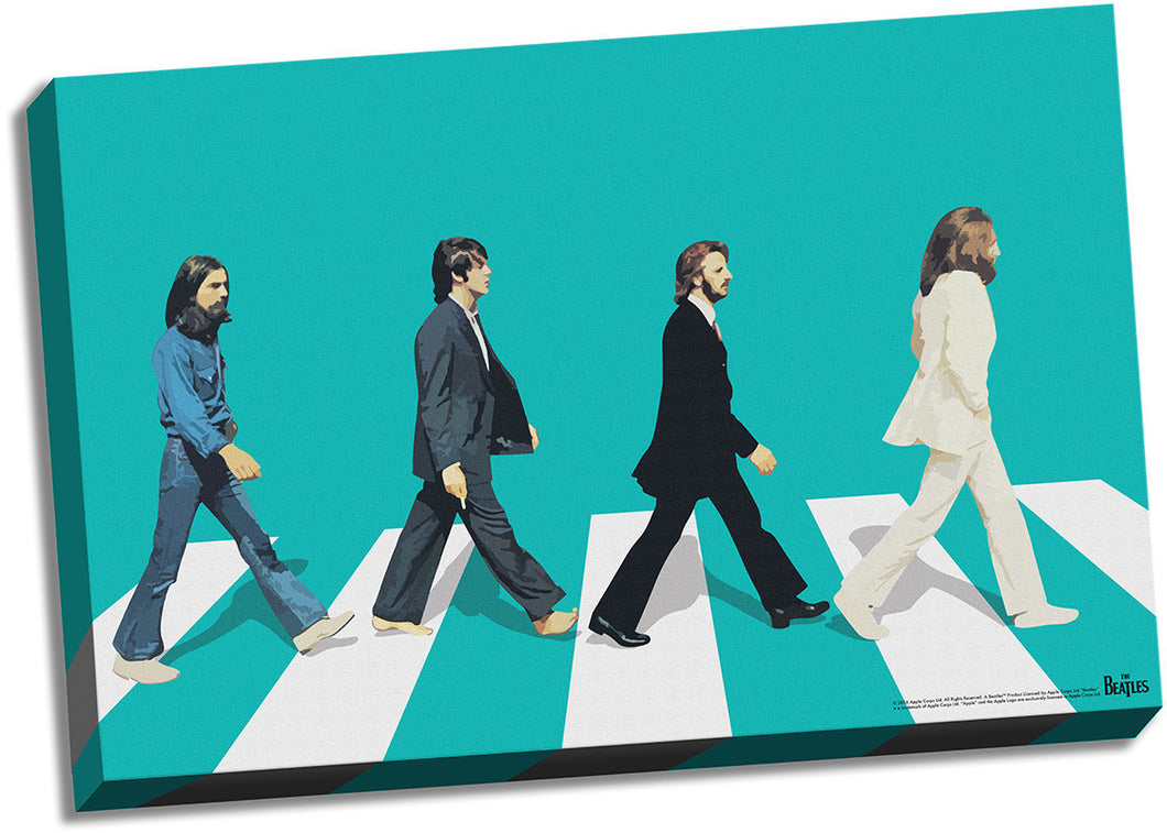 The Beatles Green Horizon Abbey Road 24x36 Stretched Canvas
