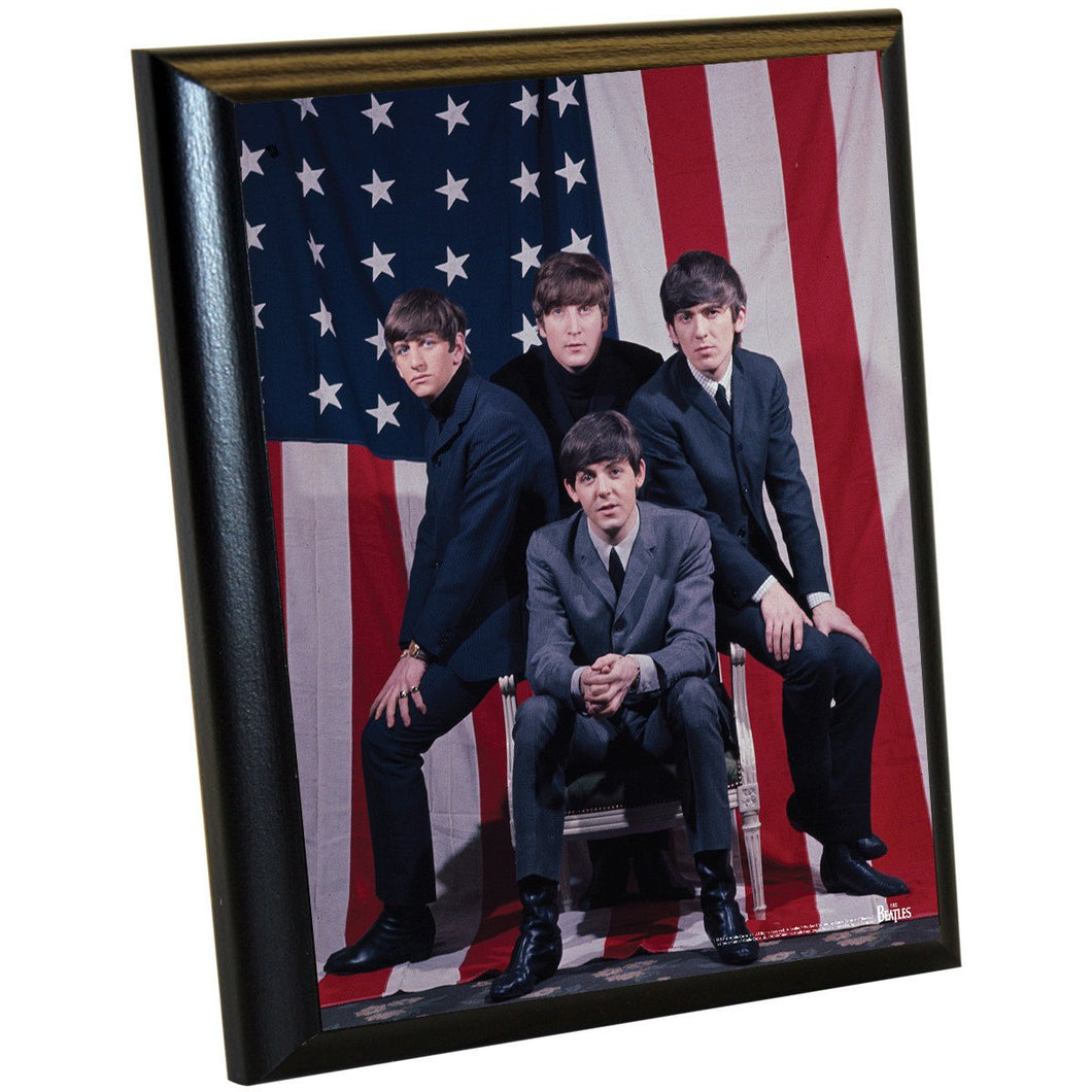 The Beatles 'American Flag Group Shot' 8x10 Plaque