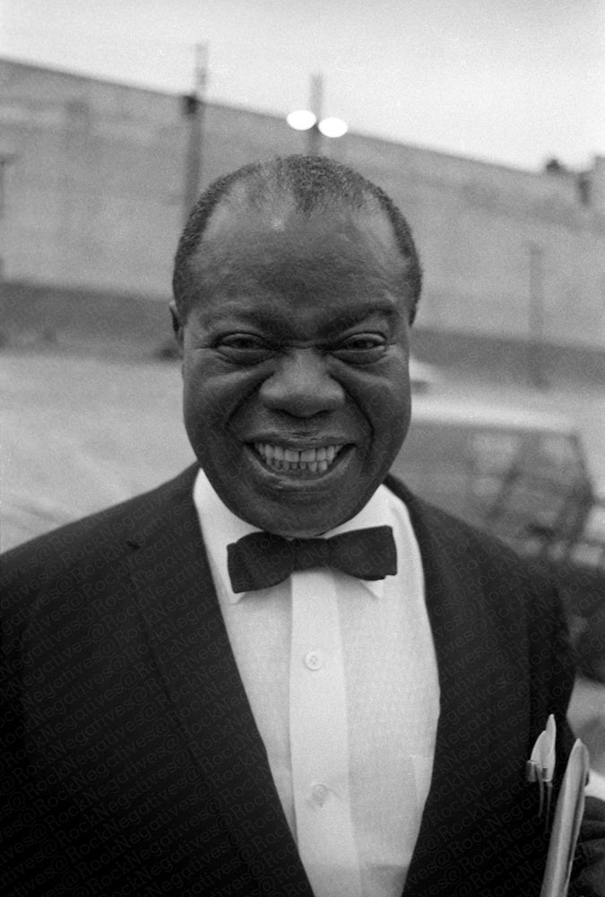 Beaming Louis Armstrong