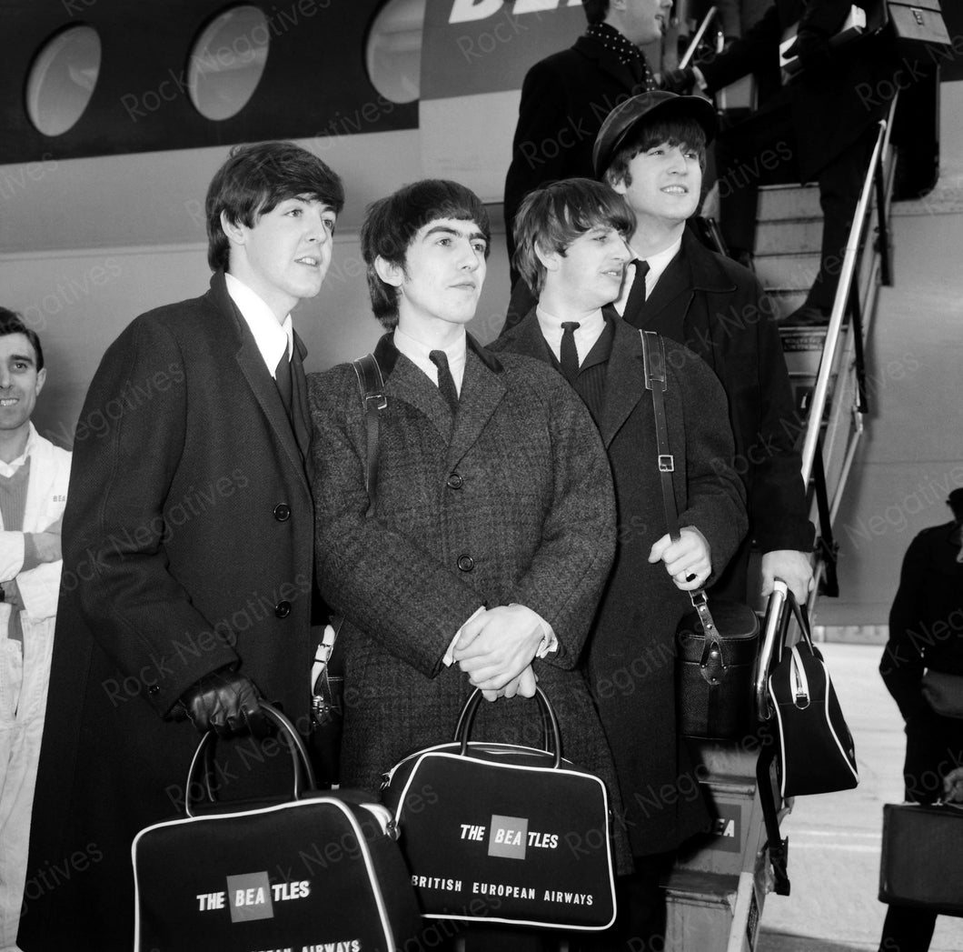 Beatles at Airport in London