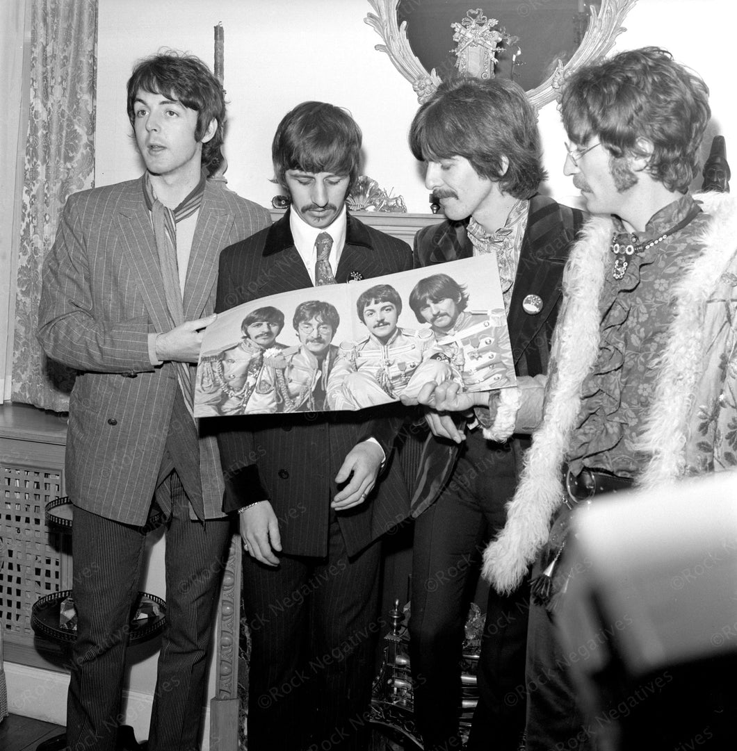 Beatles with Sgt. Pepper Album Poster