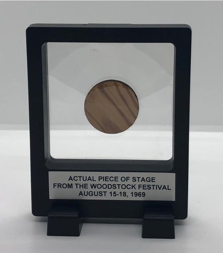 Piece of the Original Woodstock Stage in a Floating Frame