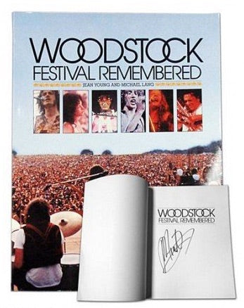 Out-of-Print, Autographed 'Woodstock Festival Remembered' Book