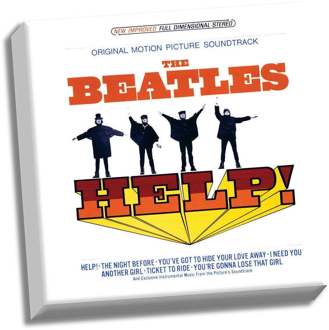 The Beatles 'HELP! Sountrack' 20x20 Stretched Canvas
