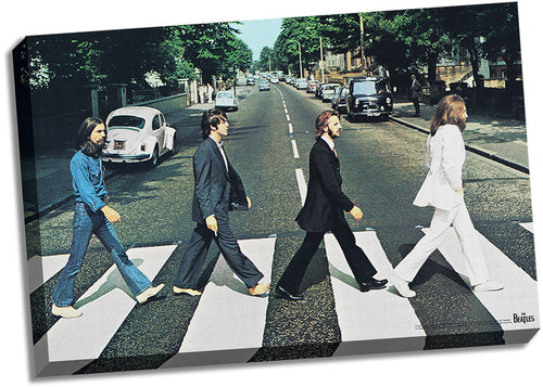 The Beatles Abbey Road 24x36 Stretched Canvas