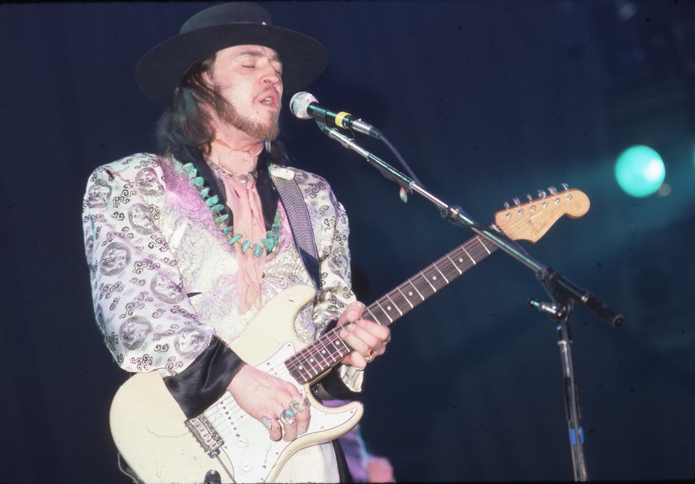 Stevie Ray Vaughan in White
