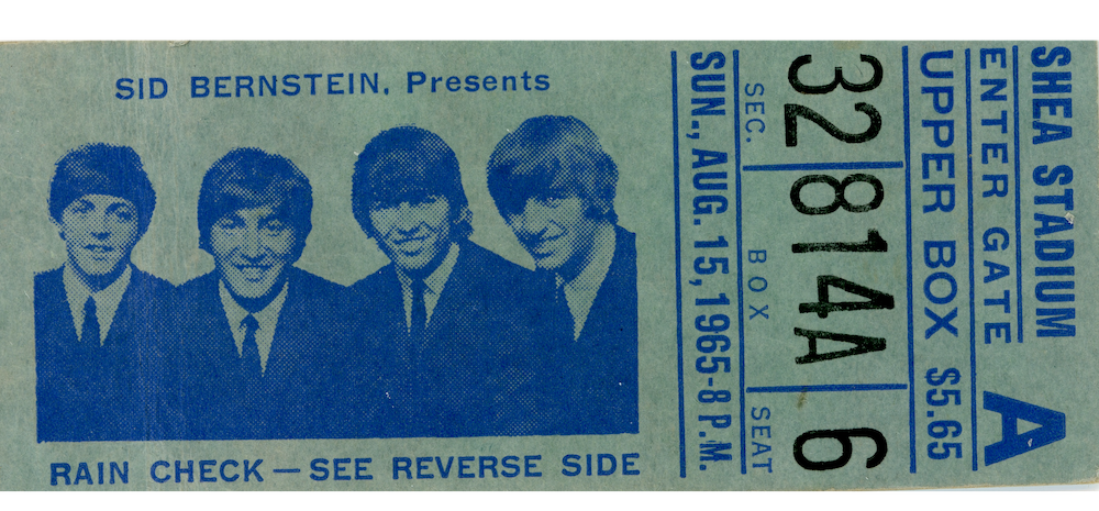 Beatles Shea Stadium Ticket