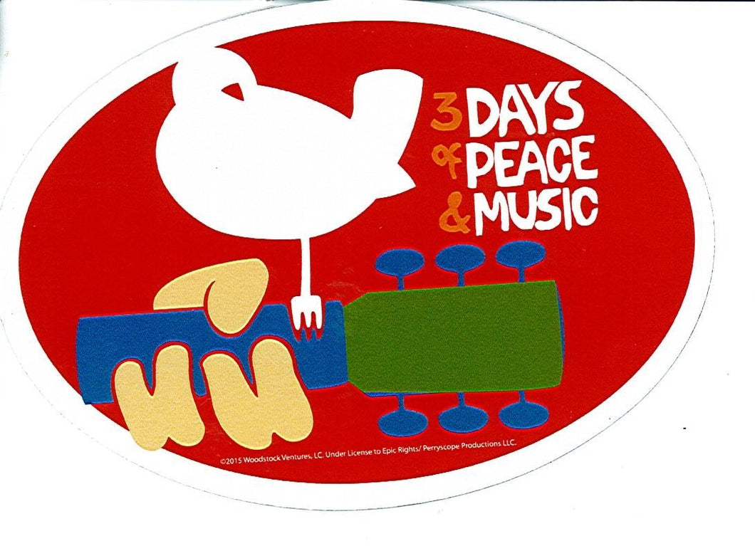 Bird On Guitar Peace Magnet