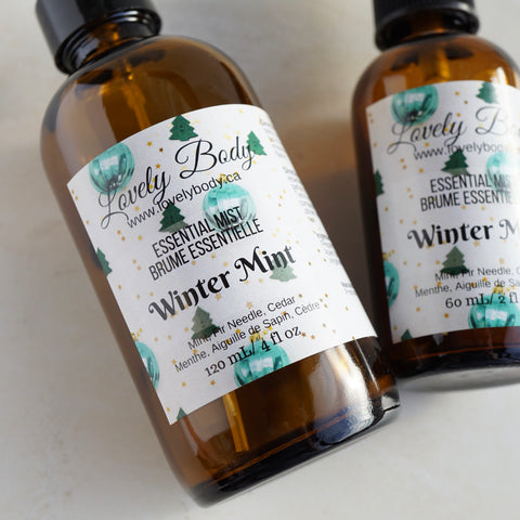 Winter Mint Essential Mist - Mint, Fir Needle, Cedar Essential Oil Blend