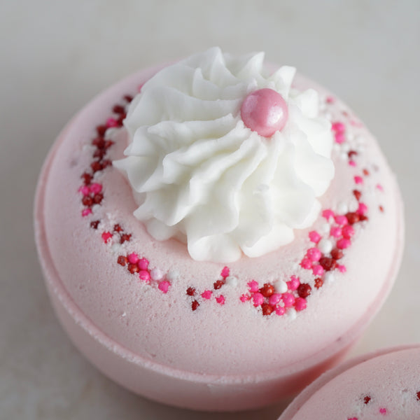 SALE Rose Quartz Bath Bomb Donut