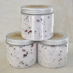 Velvet Rose Salt Soak - With Egyptian Geranium & Apricot Kernel Oil
