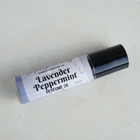 Lavender Peppermint Essential Oil Perfume Roller