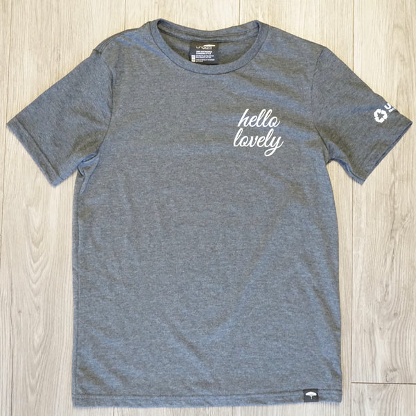 Grey Lovely Body Crew Neck T-Shirt Unisex - Made by Ungalli