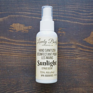 Sunlight Hand Sanitizer - 70% Alcohol - Light Citrus Scent