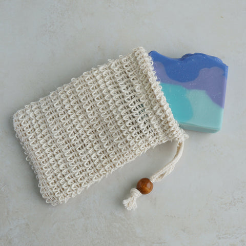 Natural Exfoliating Sisal (Agave) Soap Saver Bag