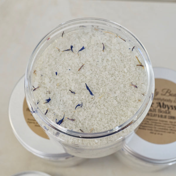 The Abyss Salt Soak - With French Green Clay and Cornflowers