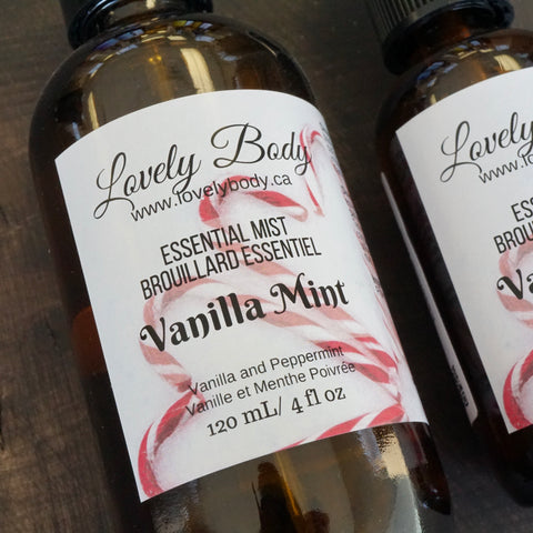 Vanilla Mint Essential Mist - Peppermint and Vanilla