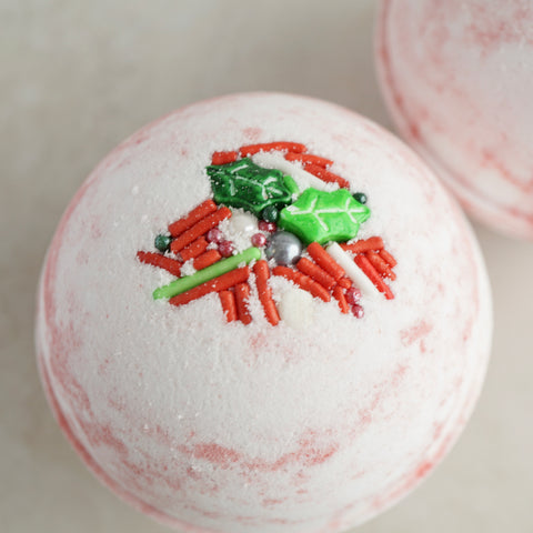 Crushed Candy Cane Vegan Bath Bomb