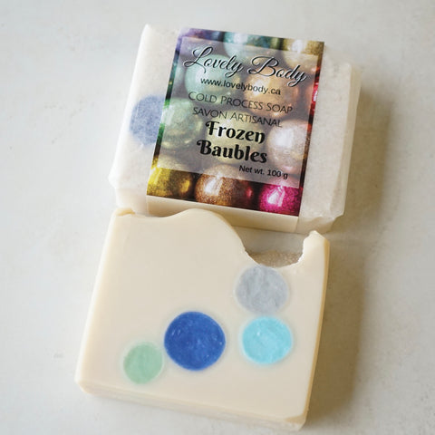 Frozen Baubles Cold Process Soap