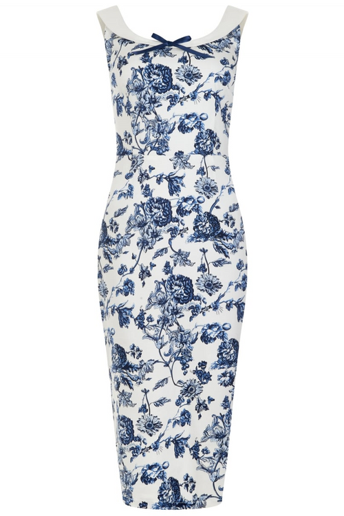 Vintage Maddison Toile Print Pencil Dress