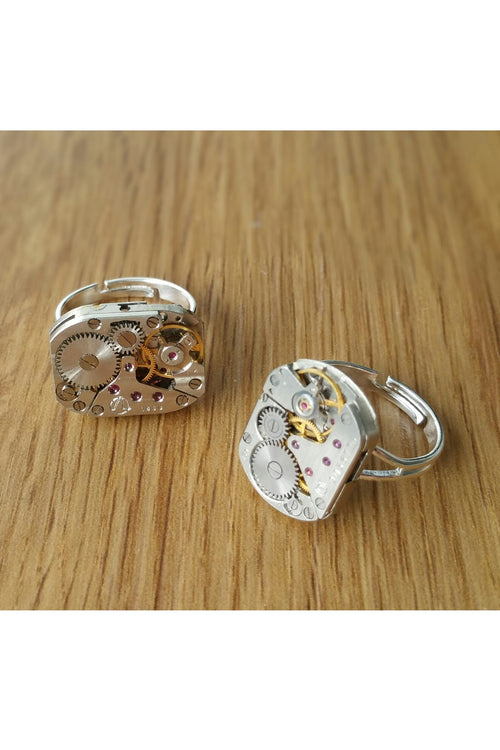 Adjustable Watch Movement Ring