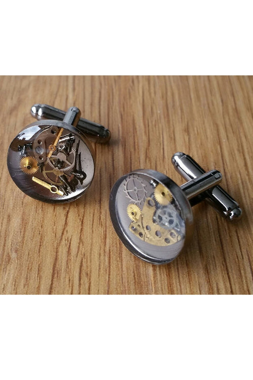 Watch Piece Cufflinks sealed in resin